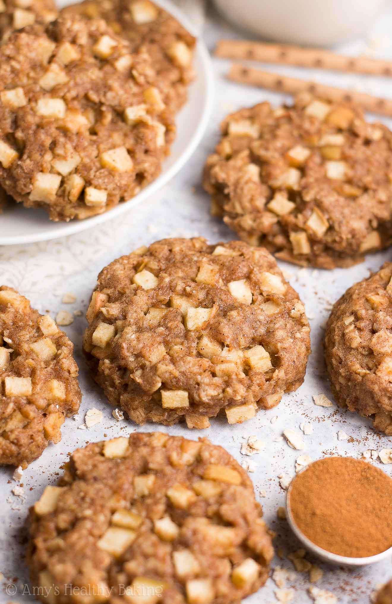 Healthy Apple Oatmeal Cookies  Healthy Apple Pie Oatmeal Breakfast Cookies