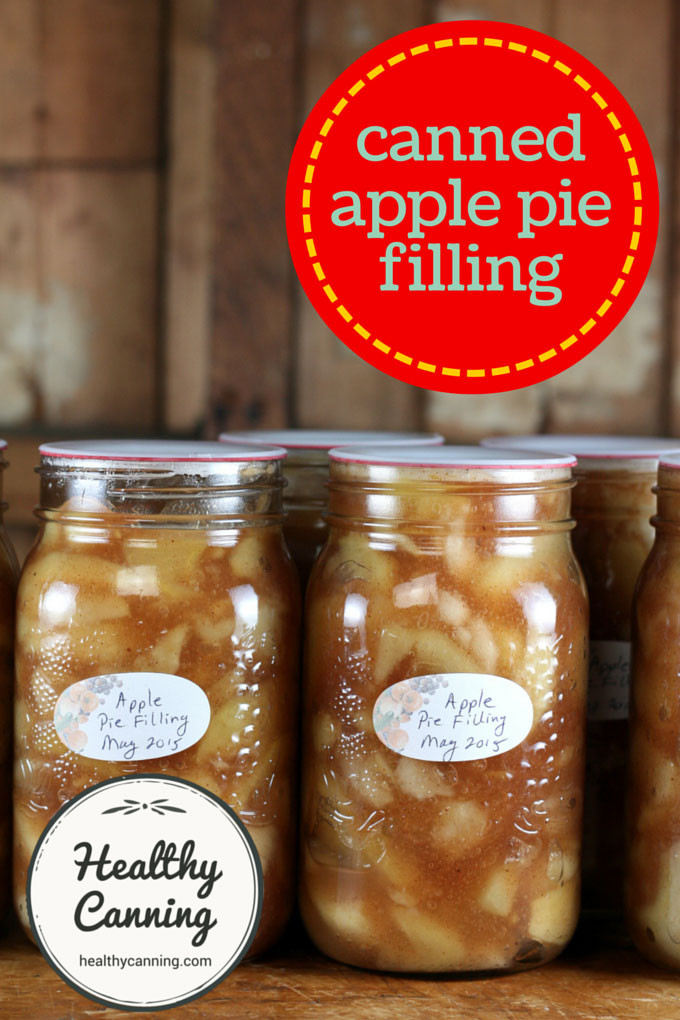 Healthy Apple Pie Filling  Canned Apple Pie Filling Healthy Canning