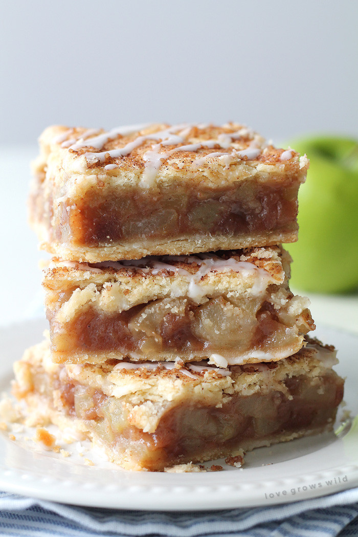 Healthy Apple Pie Recipes With Fresh Apples  Apple Pie Bars Love Grows Wild