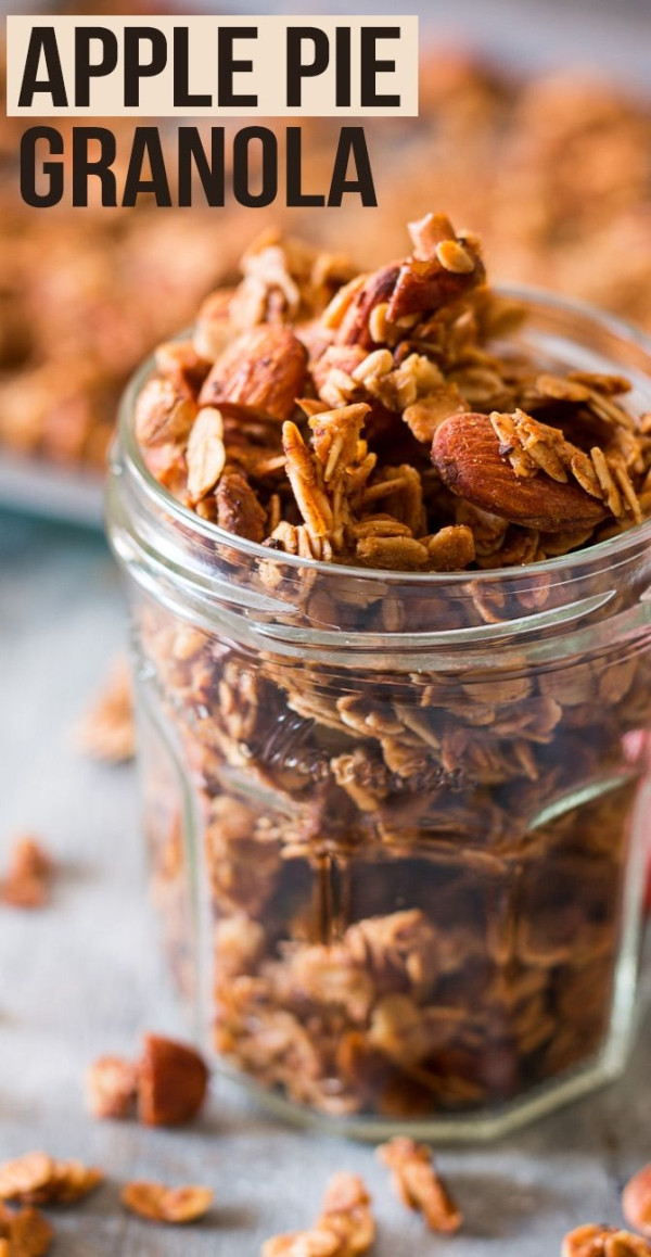 Healthy Apple Pie Recipes With Fresh Apples  Easy apple pie granola made with fresh apples and perfect