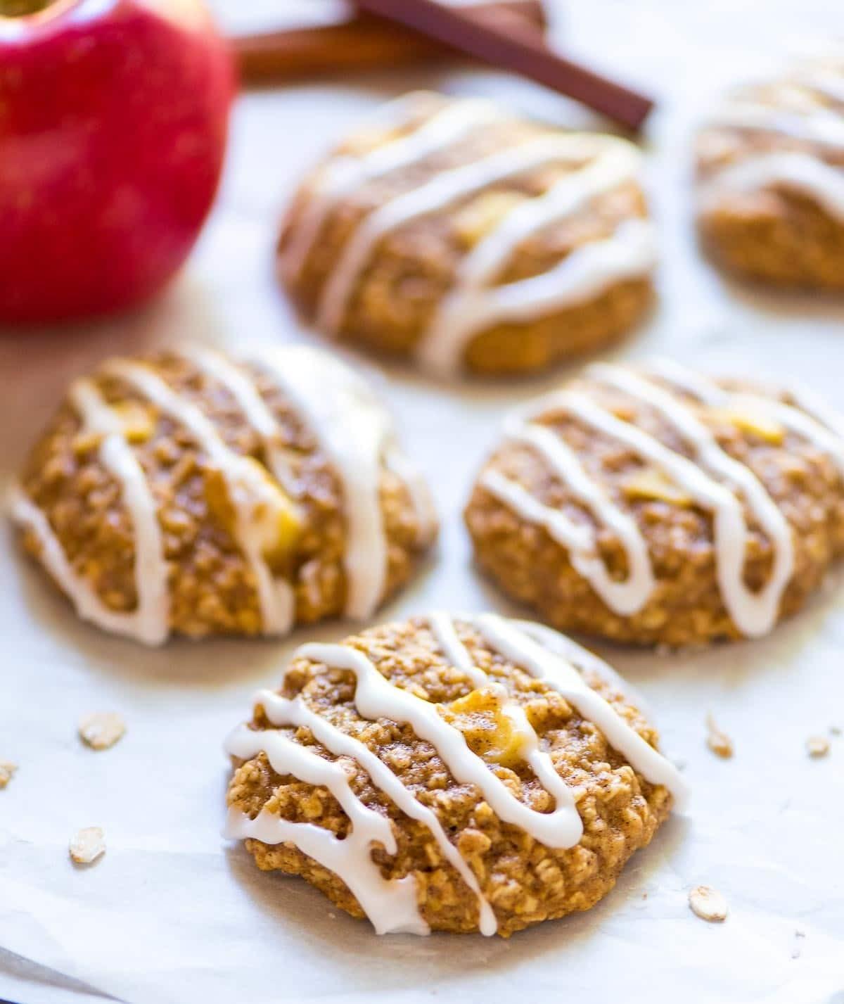 Healthy Apple Snacks  Apple Oatmeal Cookies