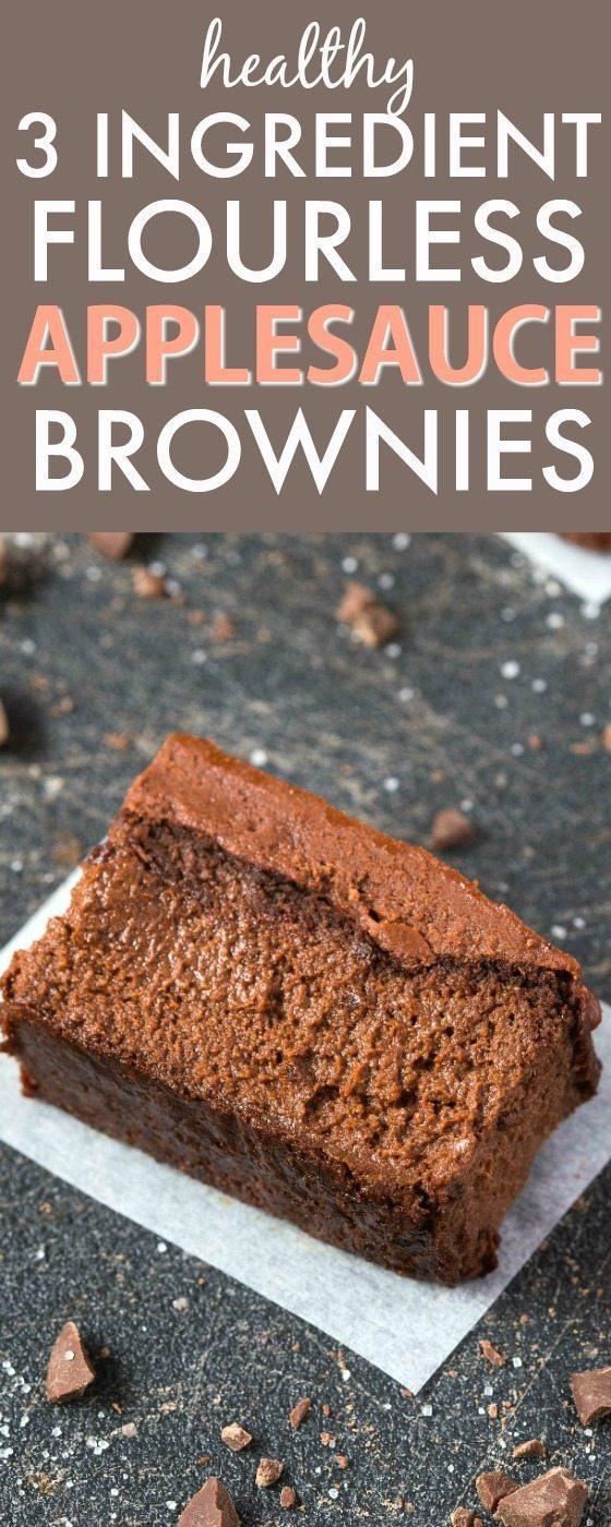 Healthy Applesauce Brownies  20 Healthy Recipes Using Applesauce Paleo Vegan Gluten