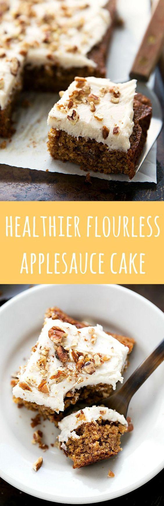 Healthy Applesauce Cake Recipe  Healthy Flourless Applesauce Spice Cake