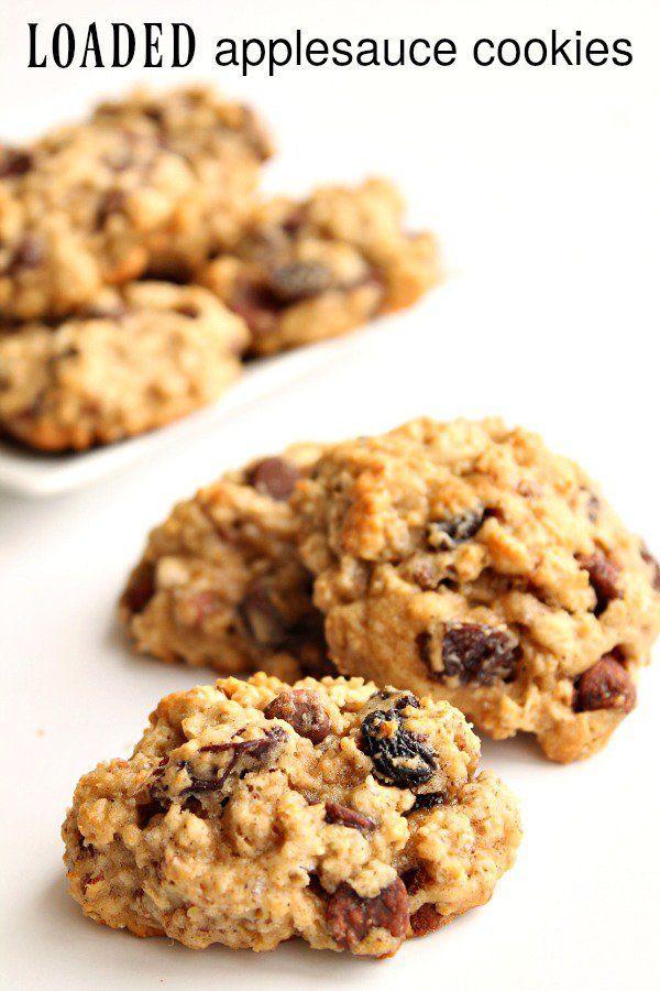 Healthy Applesauce Cookies  Healthy Recipes Loaded Applesauce Cookies from Six