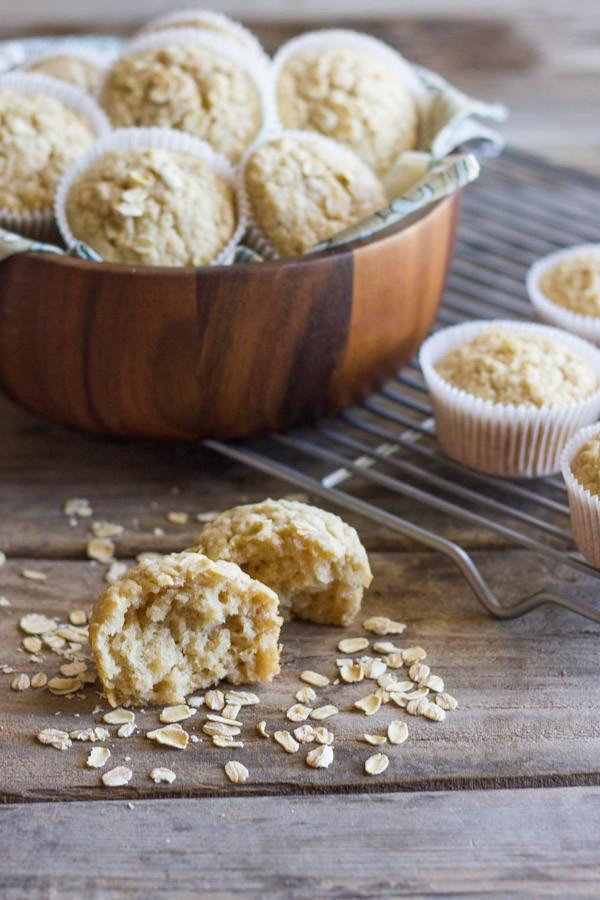 Healthy Applesauce Muffins  Healthy Applesauce Oat Muffins Lovely Little Kitchen
