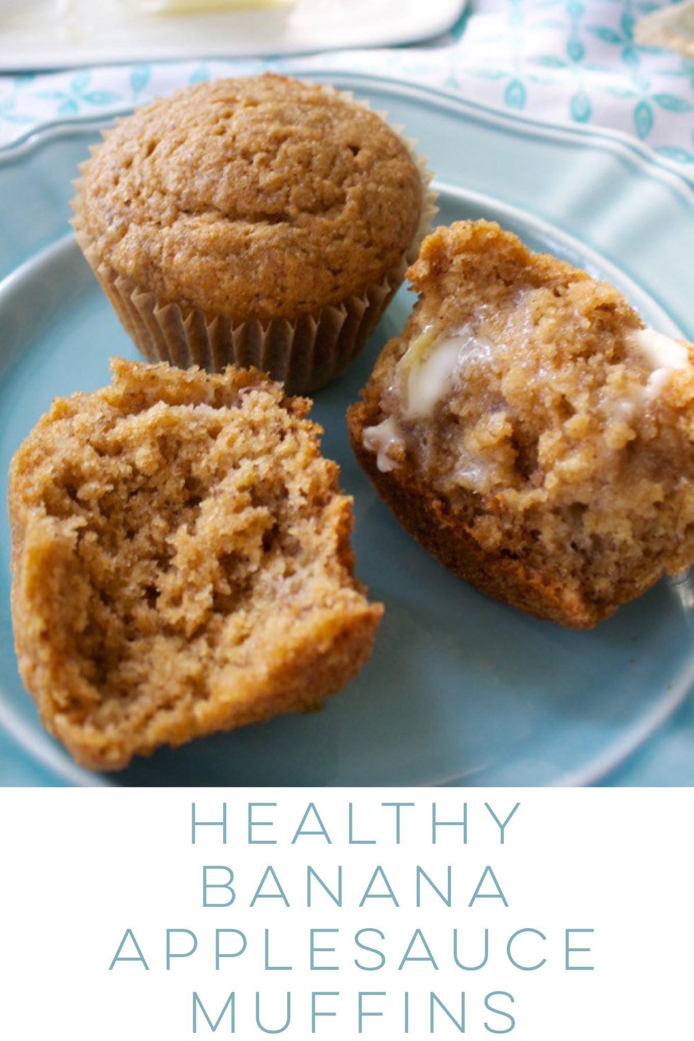 Healthy Applesauce Muffins  Healthy Banana Applesauce Muffins Bet Dinner