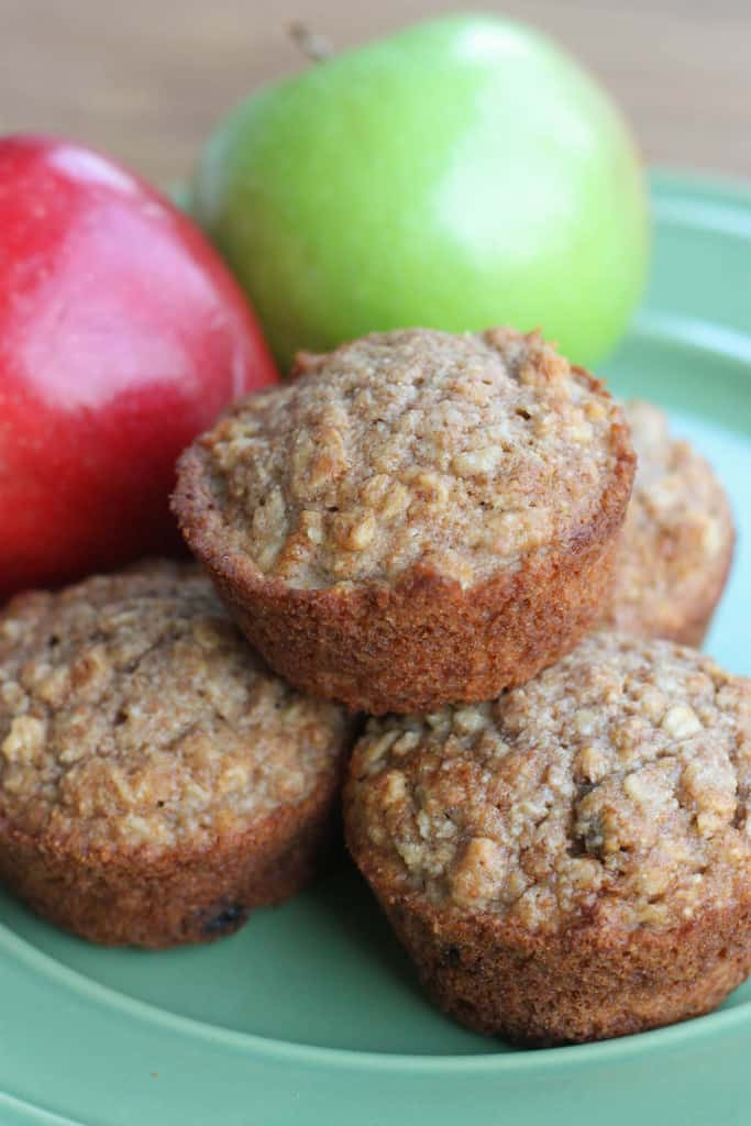 Healthy Applesauce Muffins No Sugar  healthy banana oatmeal muffins with applesauce