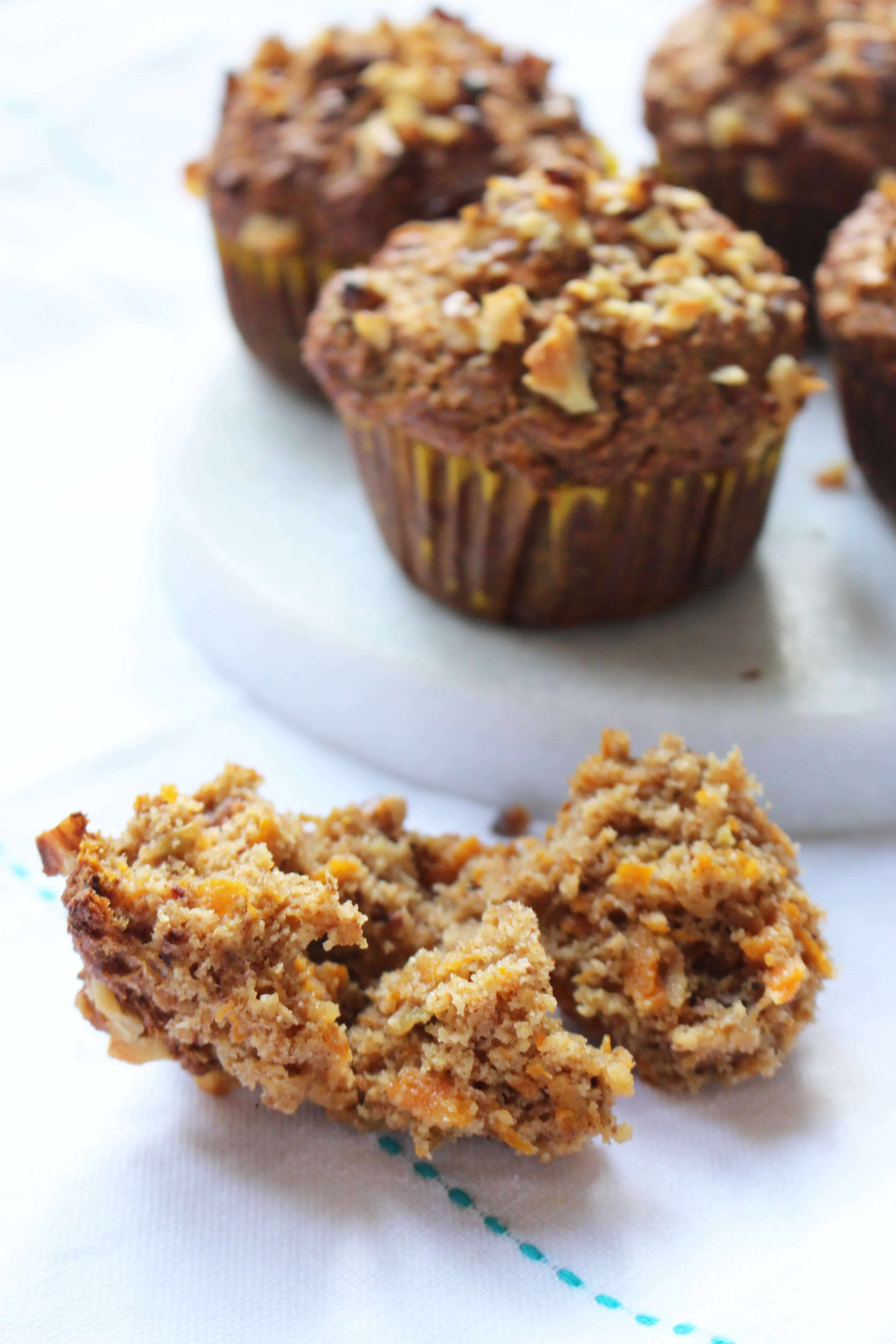 Healthy Applesauce Muffins No Sugar  Carrot Apple Muffins No Added Sugar