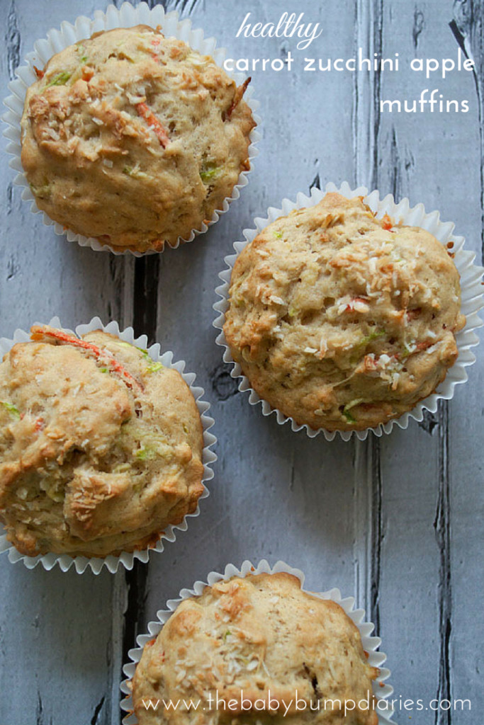 Healthy Applesauce Muffins No Sugar  Healthy Carrot Zucchini Apple Muffins The Baby Bump Diaries