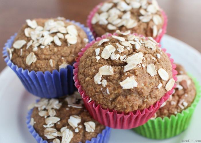 Healthy Applesauce Muffins No Sugar  No Sugar Apple Cinnamon Healthy Muffins Bren Did