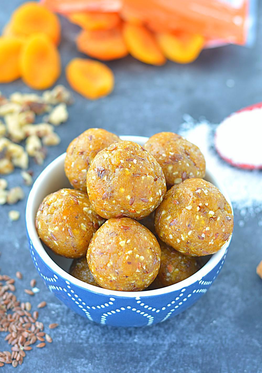 Healthy Apricot Recipes  No Cook Apricot Energy Bites healthy no bake energy bites