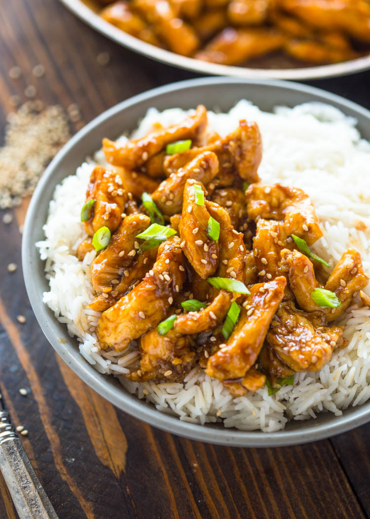 Healthy Asian Chicken Recipes  Healthier 20 Minute Sesame Chicken