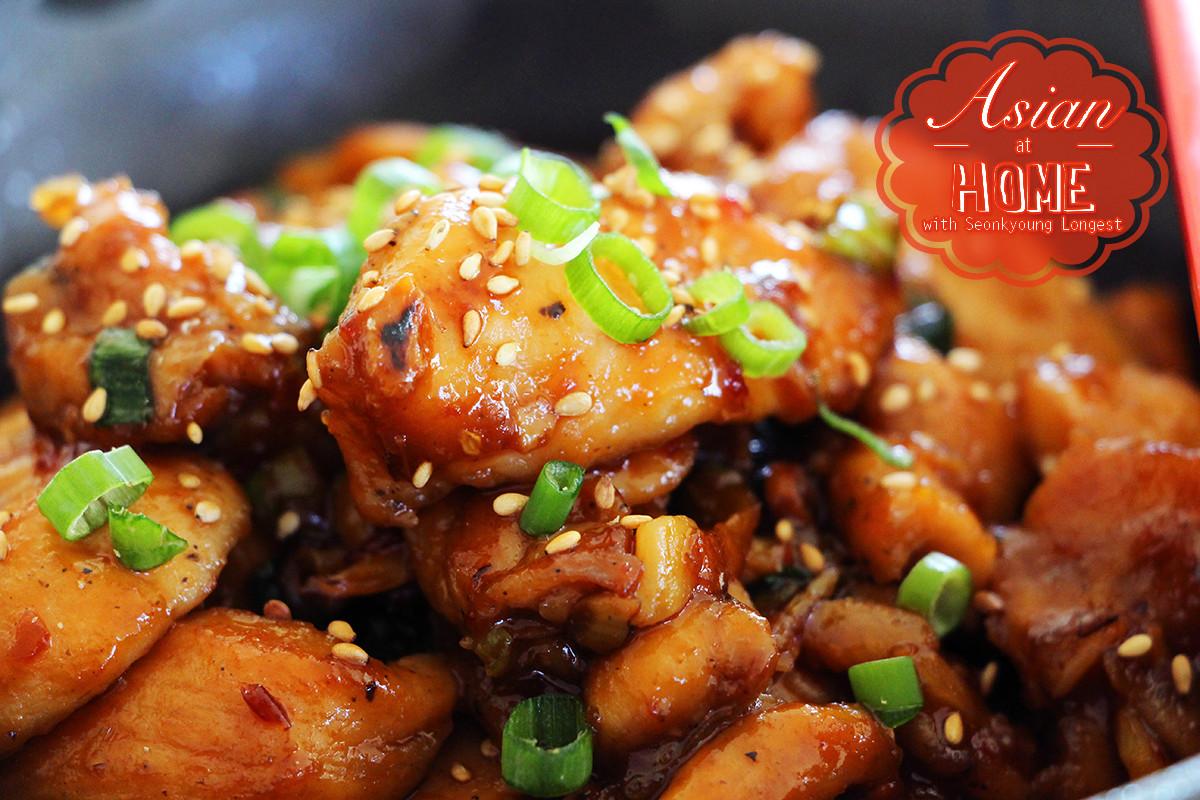 Healthy Asian Food Recipes  Easy & Healthy Orange Chicken Recipe & Video Seonkyoung