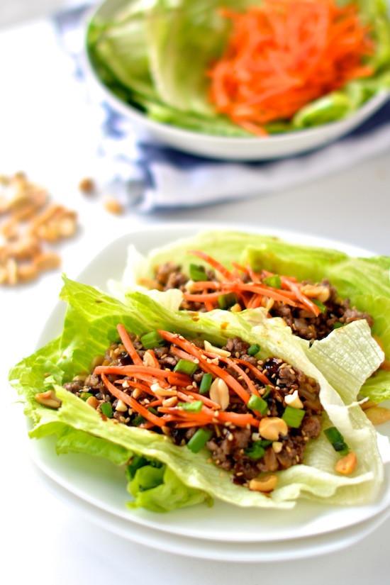 Healthy Asian Recipes  Healthy Asian Lettuce Wraps
