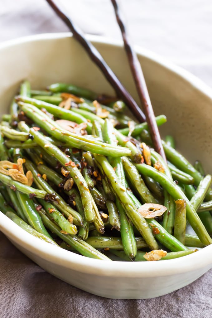 Healthy Asian Side Dishes  Asian Green Beans Wicked Spatula