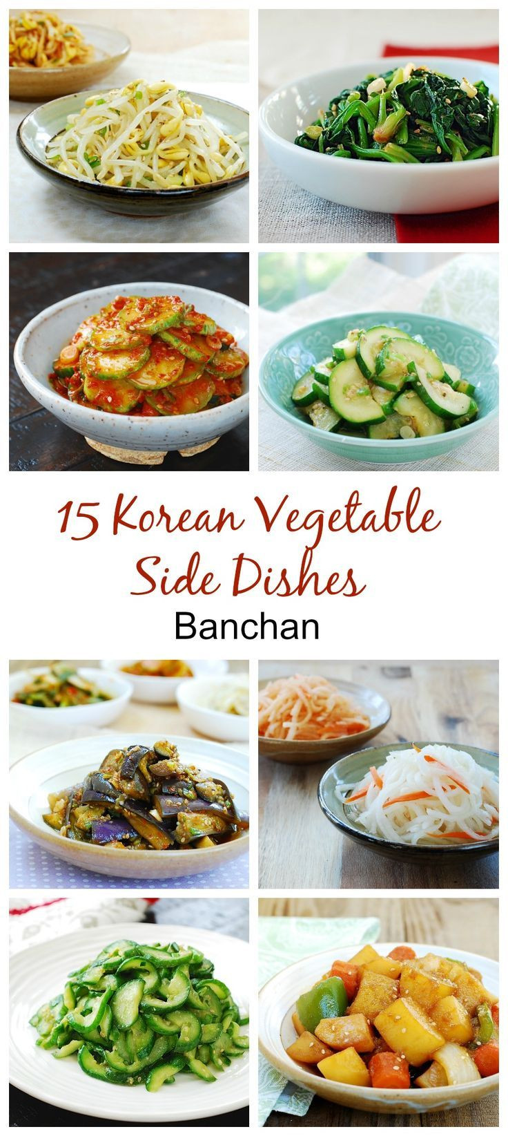 Healthy Asian Side Dishes  Here's a collection of easy and healthy Korean ve able