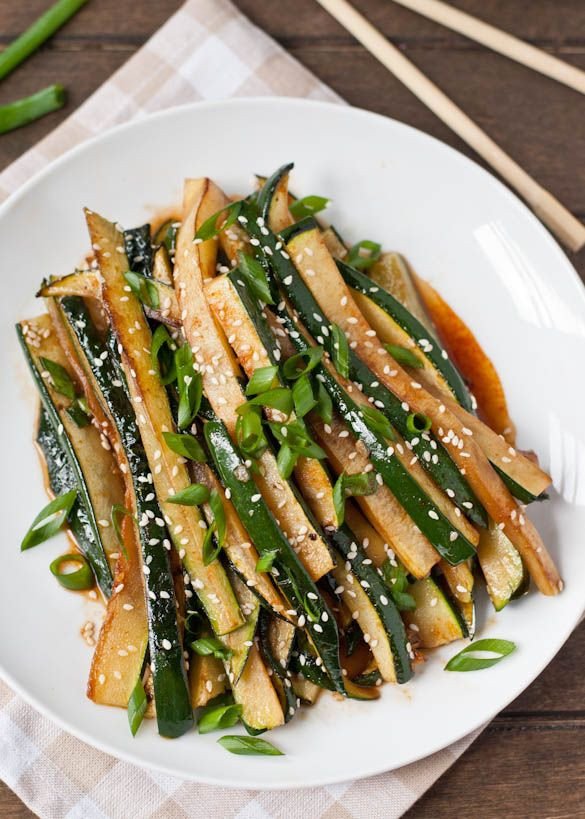 Healthy Asian Side Dishes  Spicy Asian Zucchini 5 Minute Side Dish
