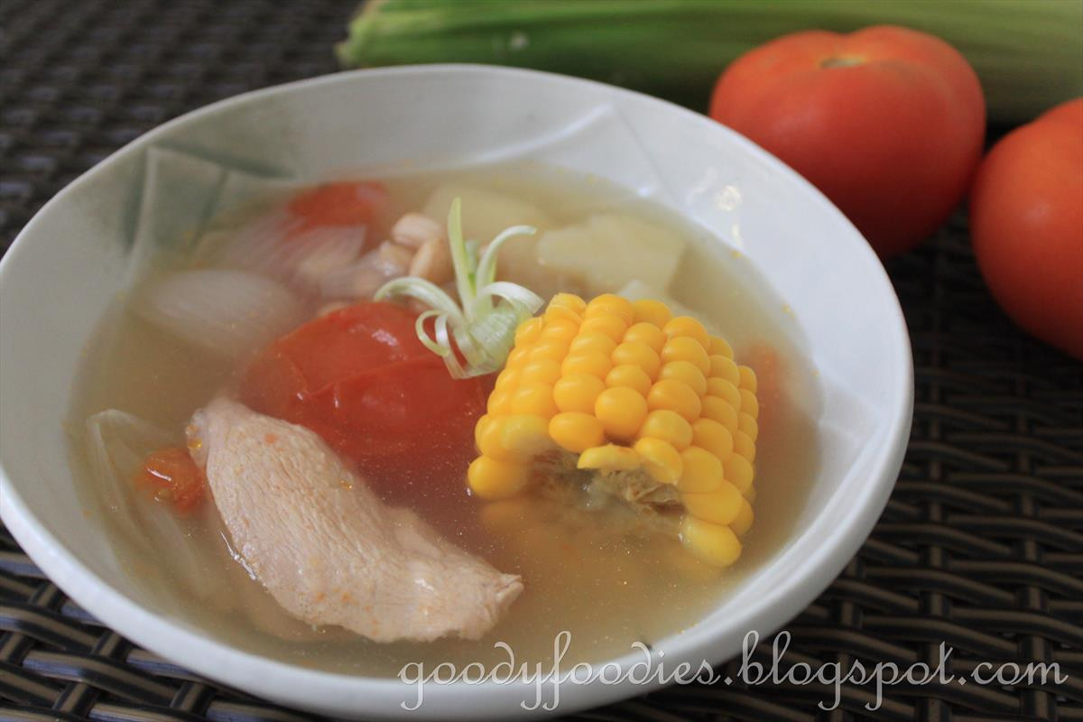 Healthy Asian Soup Recipes  GoodyFoo s Recipe Healthy Chinese ABC Soup with Sweet Corn