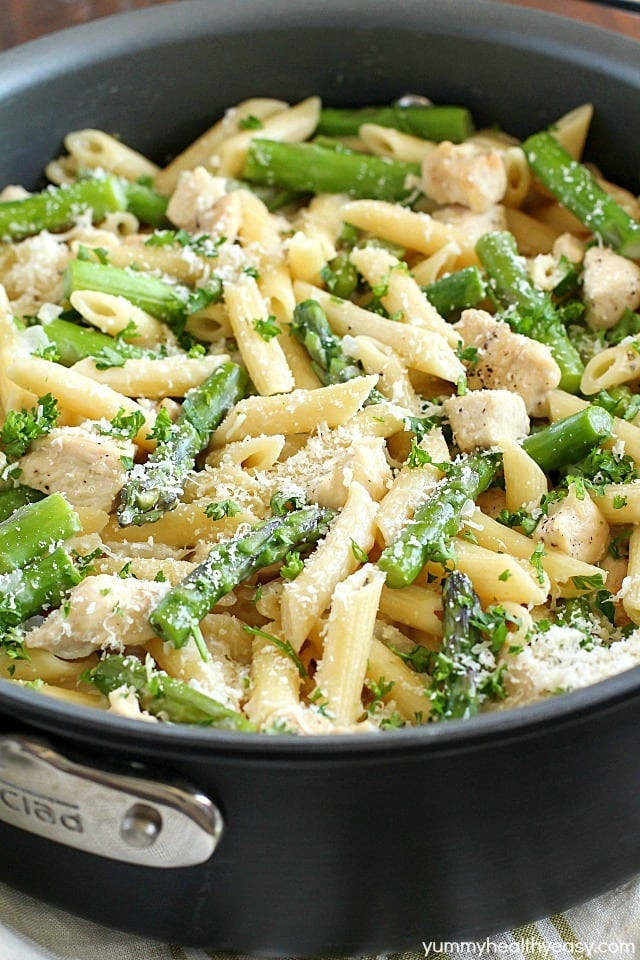 Healthy Asparagus Recipes  healthy chicken and asparagus pasta