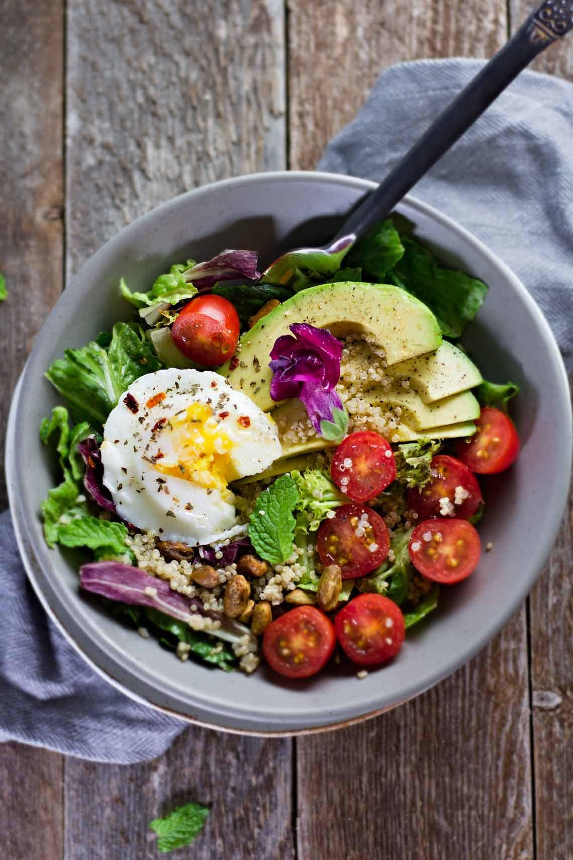 Healthy Avocado Breakfast  Poached Egg & Avocado Breakfast Salad Jar Lemons
