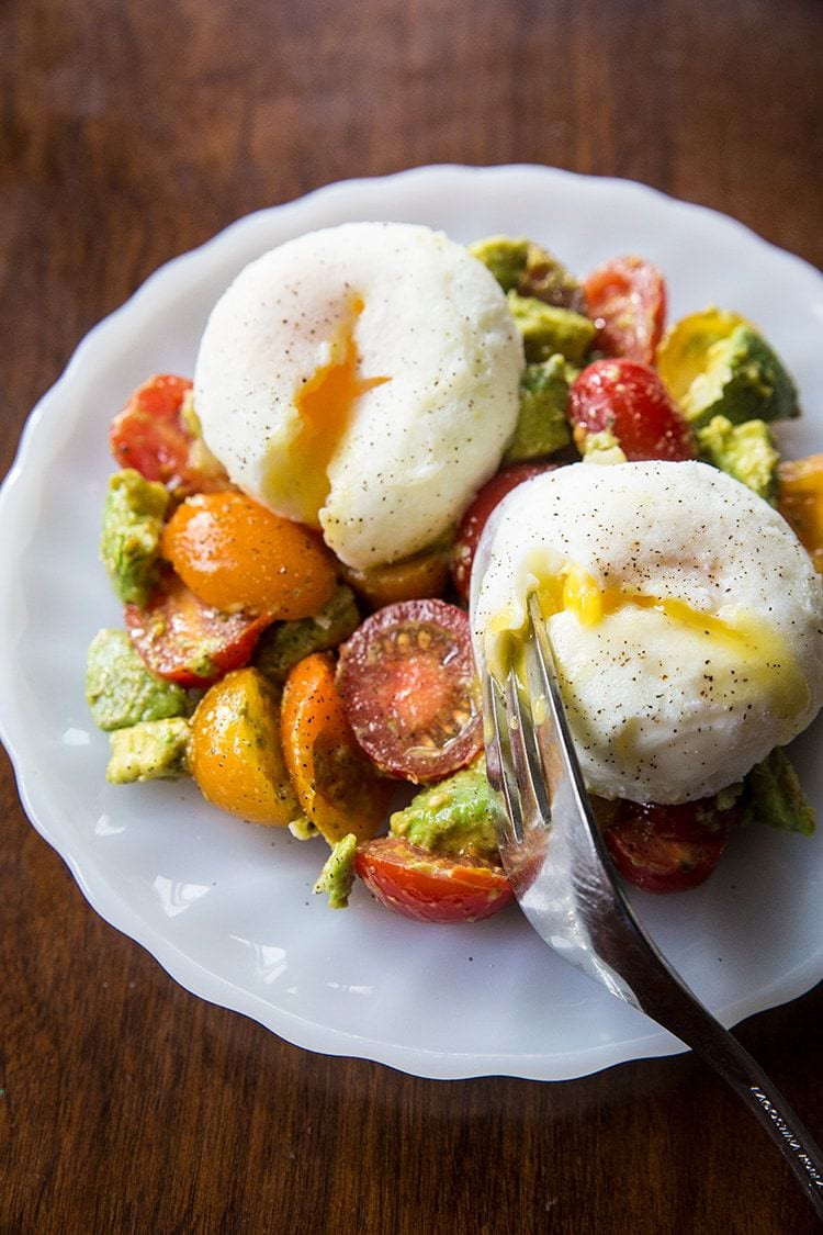 Healthy Avocado Breakfast  Pesto Tomato Egg & Avocado Breakfast Salad The Kitchen