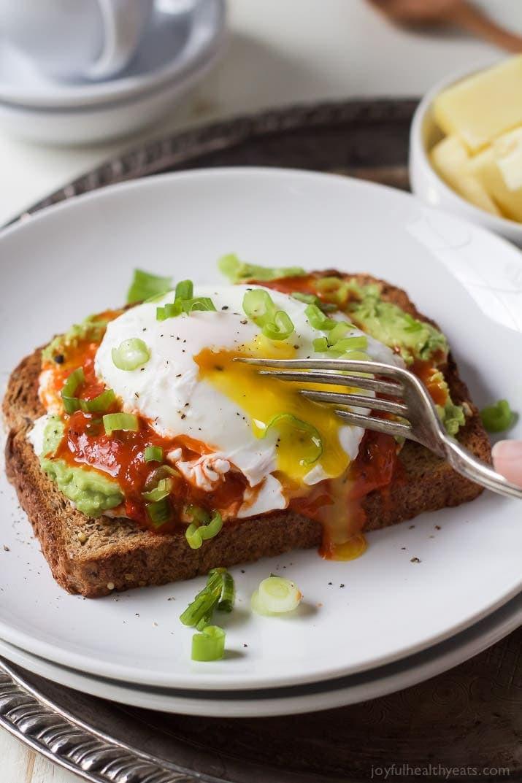 Healthy Avocado Breakfast  Ricotta Avocado Toast with Poached Egg