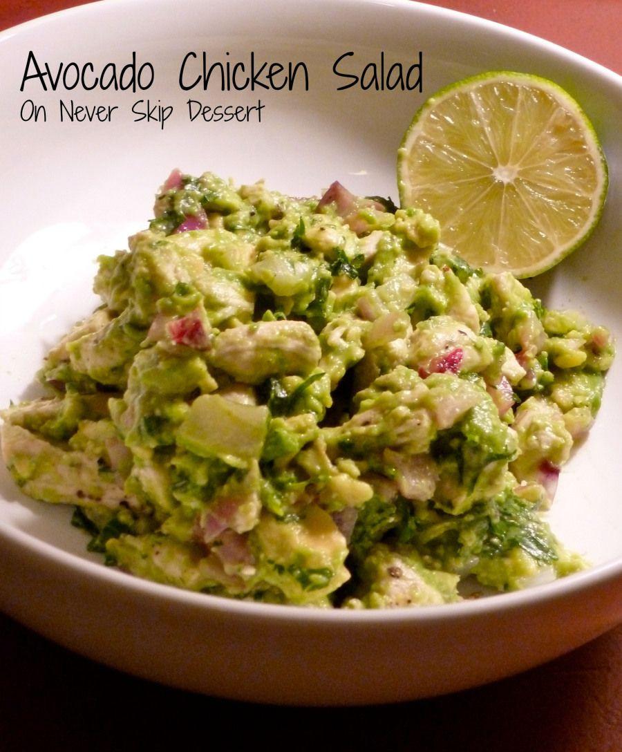 Healthy Avocado Chicken Salad  Avocado Chicken Salad