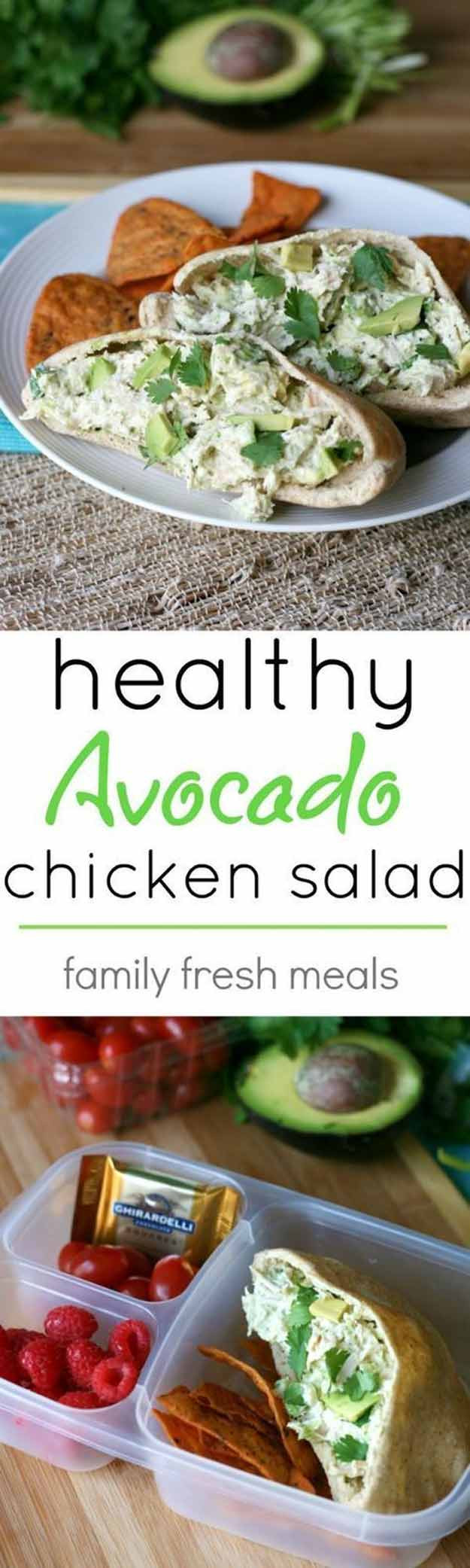 Healthy Avocado Chicken Salad  35 More Healthy Lunches For Work The Goddess