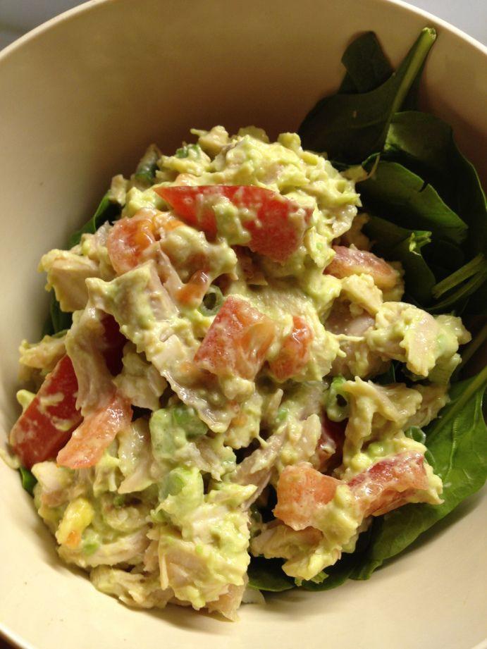 Healthy Avocado Chicken Salad  14 best Avocado Chicken Salad images on Pinterest