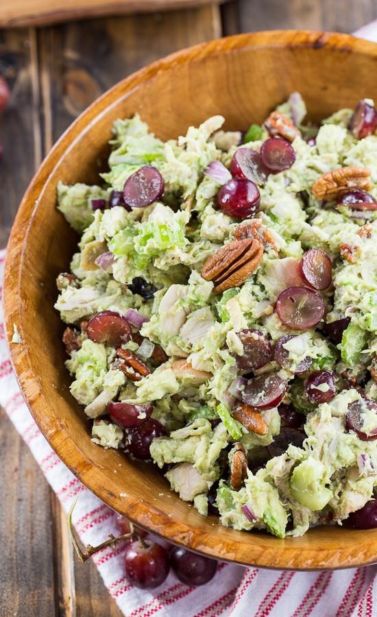 Healthy Avocado Chicken Salad  Avocado Sonoma Chicken Salad Spicy Southern Kitchen