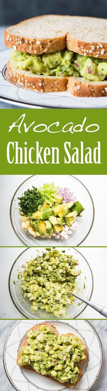 Healthy Avocado Chicken Salad  EASY and Healthy Avocado chicken salad with avocado
