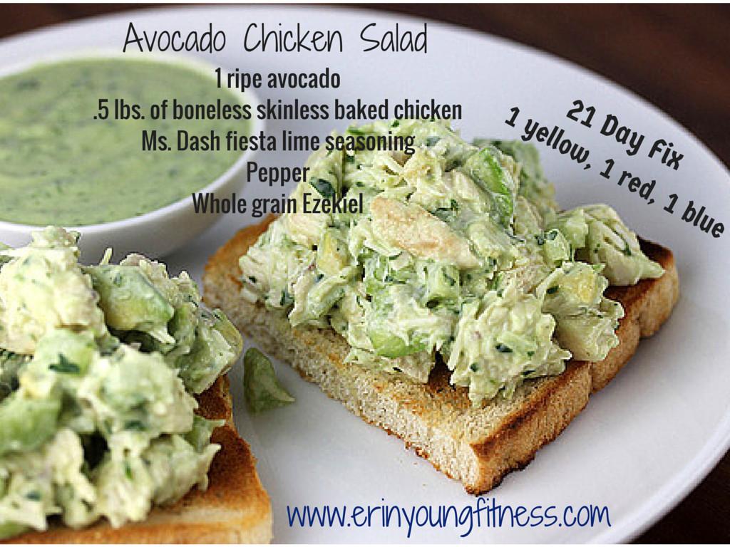 Healthy Avocado Chicken Salad  Clean and Healthy Avocado Chicken Salad Erin Young Fitness