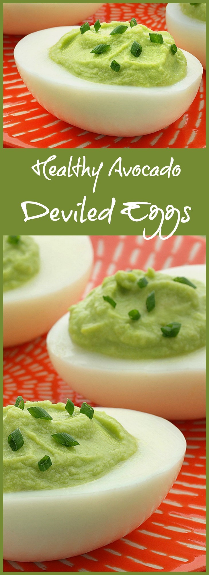 Healthy Avocado Deviled Eggs  Healthy Avocado Deviled Eggs