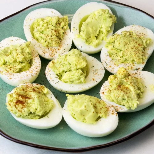 Healthy Avocado Deviled Eggs  Healthy Avocado Deviled Eggs Get Healthy U