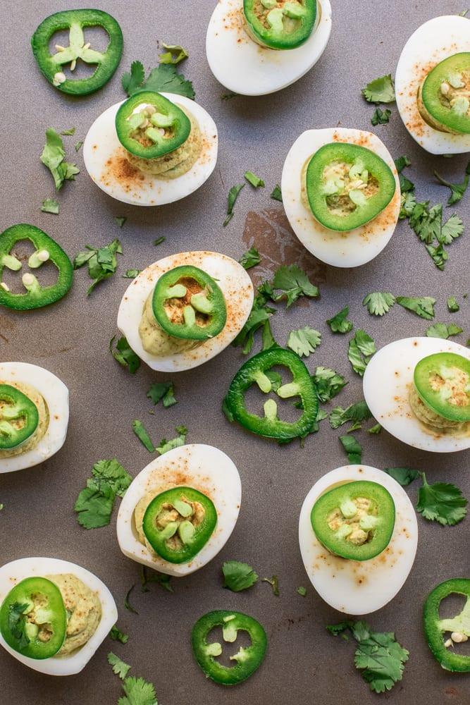 Healthy Avocado Deviled Eggs  Healthy Jalapeño Avocado Deviled Eggs — Peanut Butter Plus