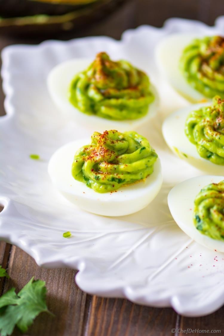 Healthy Avocado Deviled Eggs  Healthy Deviled Eggs with Avocado Recipe