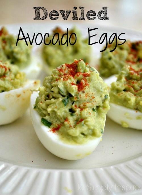 Healthy Avocado Deviled Eggs  Deviled Avocado Eggs