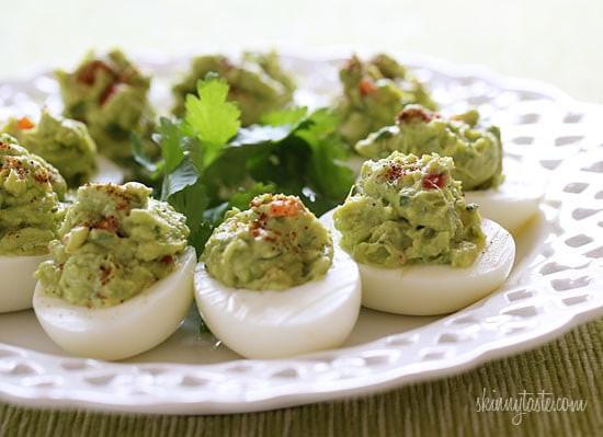 Healthy Avocado Deviled Eggs  Guacamole Deviled Eggs Recipe
