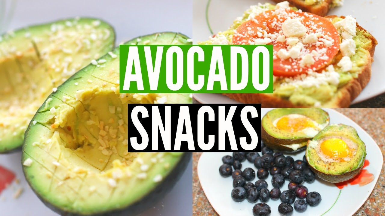 Healthy Avocado Snacks  DIY Healthy Avocado Snacks Simple & Fast