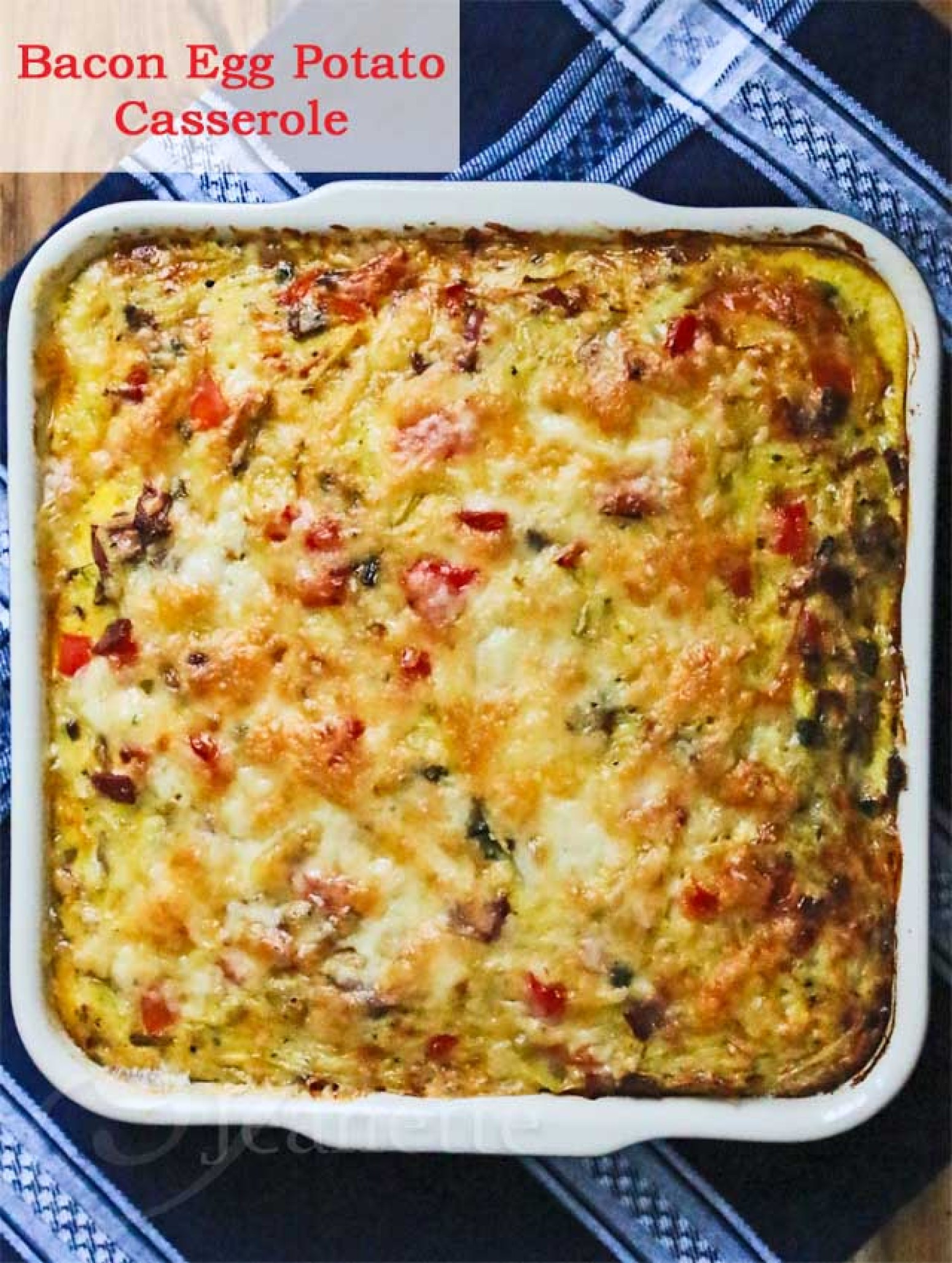 Healthy Bacon Breakfast  Healthy Bacon Egg Potato Breakfast Casserole Recipe 2