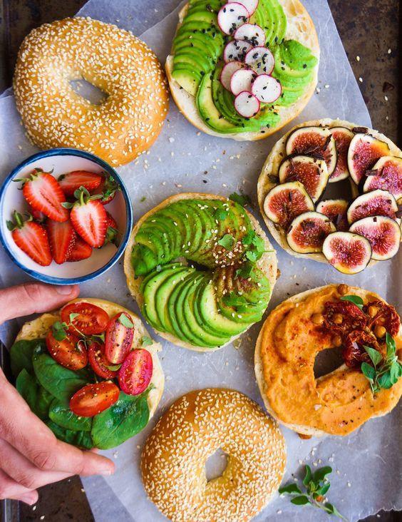 Healthy Bagel Breakfast  Best Healthy Bagel ideas on Pinterest