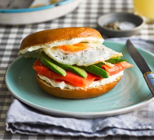 Healthy Bagel Breakfast  Breakfast bagel club recipe