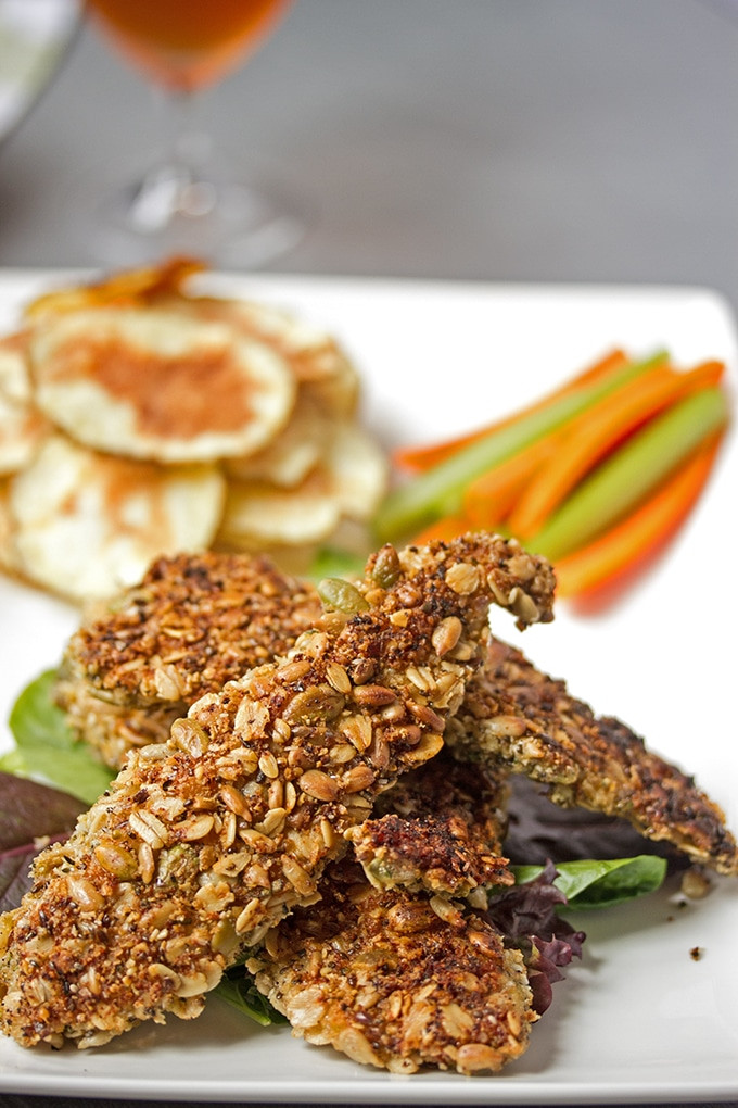 Healthy Baked Breaded Chicken  Oven Baked Chicken Tenders with a Healthy Seed Crust