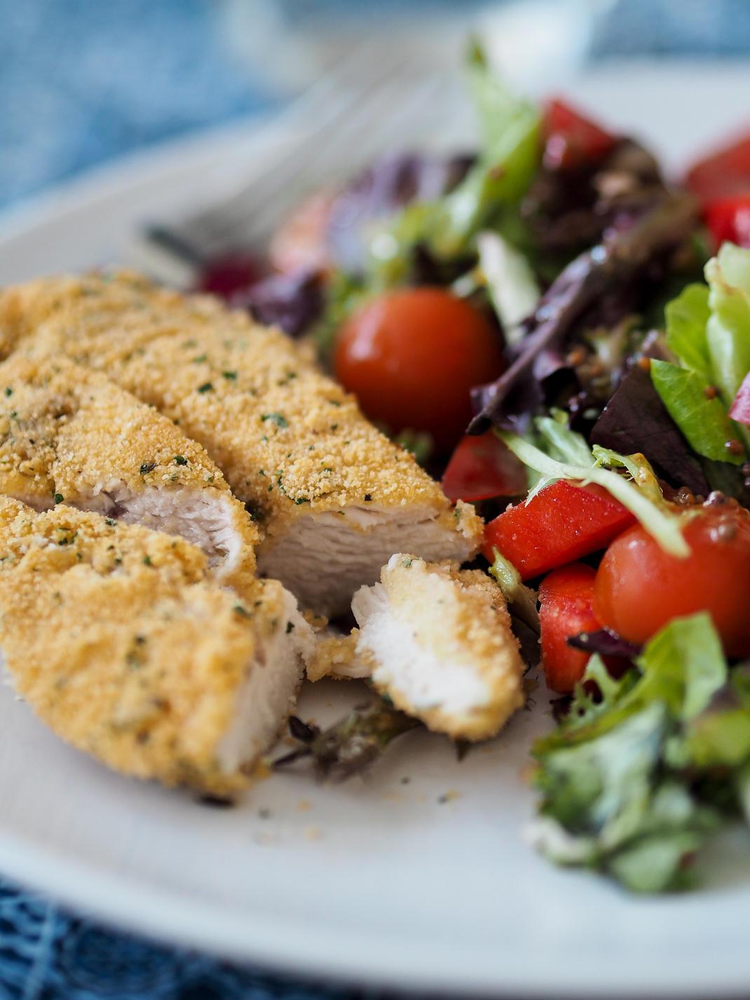 Healthy Baked Breaded Chicken  RECIPE Easy Baked Garlic Breaded Chicken