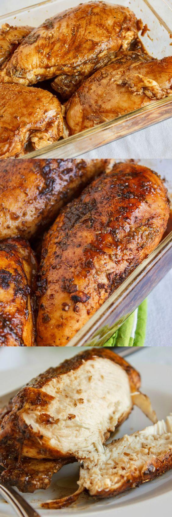 Healthy Baked Chicken Breast  Baked Balsamic Chicken Recipe