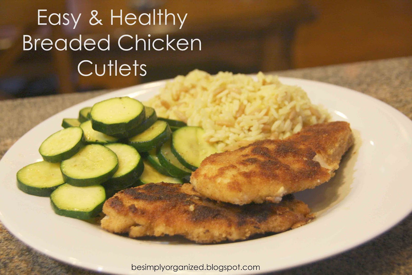 Healthy Baked Chicken Cutlets  recipe easy & healthy breaded chicken cutlets simply