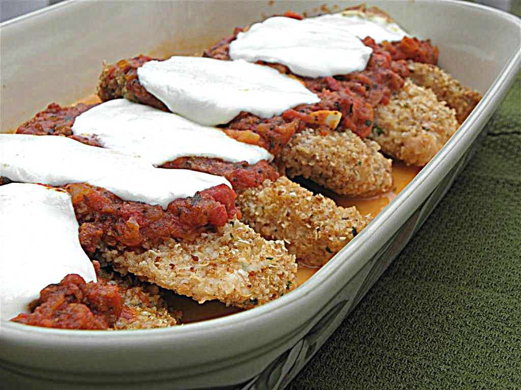 Healthy Baked Chicken Parmesan  Healthy Baked Chicken Parmesan