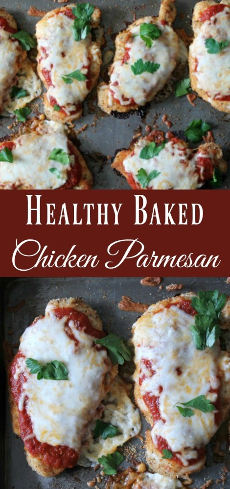 Healthy Baked Chicken Parmesan  Healthy Baked Chicken Parmesan Organize Yourself Skinny