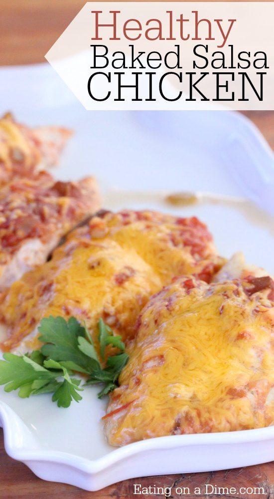 Healthy Baked Chicken Recipes Easy  Healthy Chicken Salsa Recipe Easy Salsa Chicken Recipe