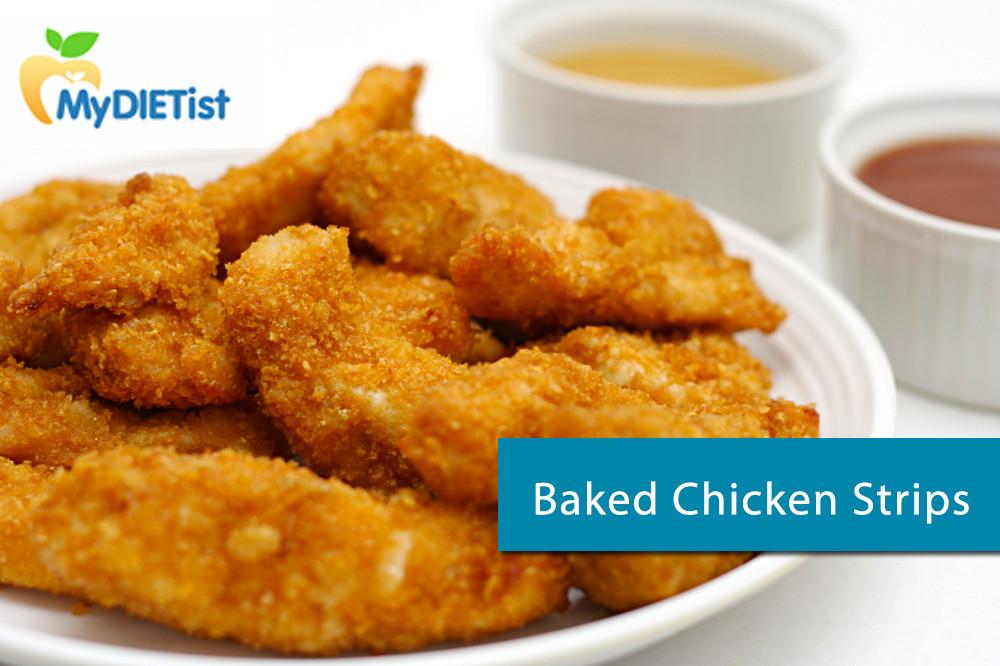 Healthy Baked Chicken Strips  Healthy Breakfast for School Children Tiffins